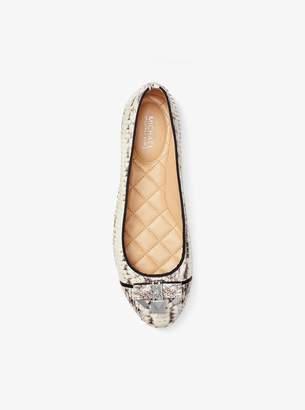MICHAEL Michael Kors Alice Snakeskin Ballet Flat