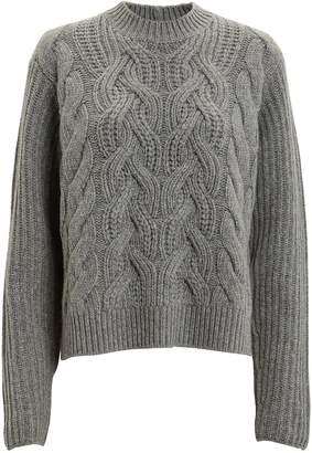 Helmut Lang Lambswool Cable Knit Sweater