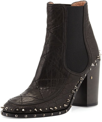 Laurence Dacade Flynn Studded Gored Ankle Boot $701 thestylecure.com