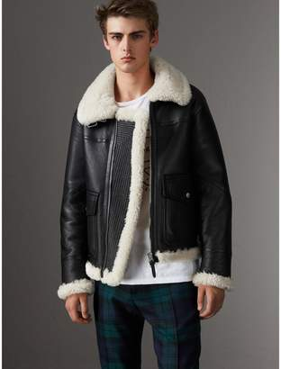 Burberry Shearling Aviator Jacket