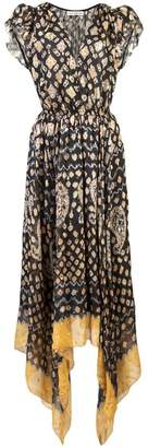 Ulla Johnson printed handkerchief midi dress