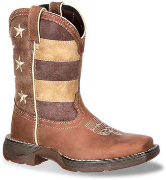 Durango Lil Rebel Faded Glory Flag Toddler & Youth Cowboy Boot - Girl's