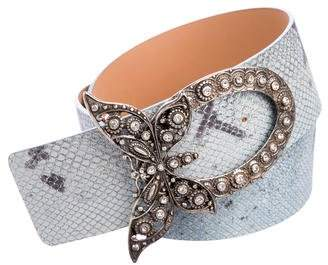 Just Cavalli Embossed Waist Belt