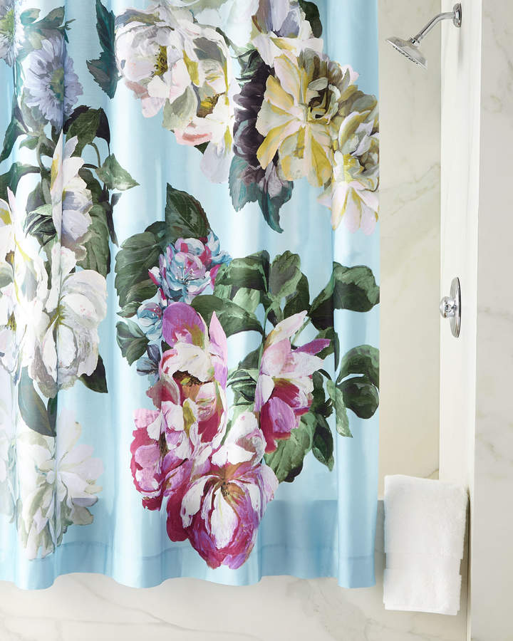 Delft Flower Sky Shower Curtain
