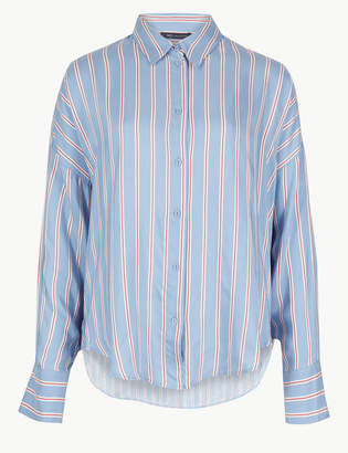 Marks and Spencer Oversized Striped Long Sleeve Shirt