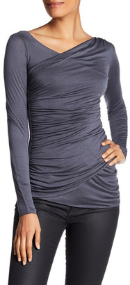 Bailey 44 Long Sleeve Ruched Blouse $143 thestylecure.com