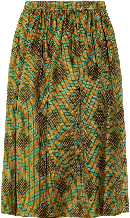 Jonathan Saunders Belle printed silk-gazar midi-skirt