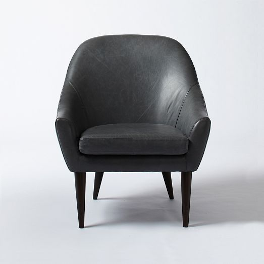 west elm Slope Leather Armchair