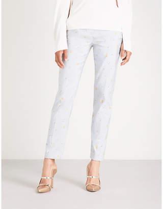 Philosophy di Lorenzo Serafini Floral-pattern straight jacquard trousers