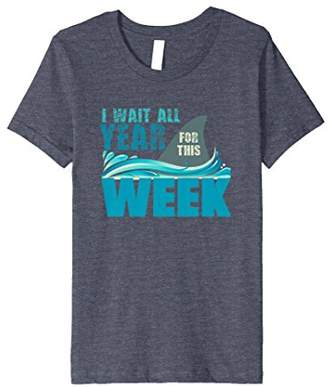 I Wait All Year For This Week T-Shirt Funny Shark Tee