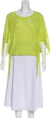 Yigal Azrouel Cut25 by Cutout Fringe-Accented Top