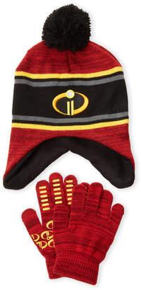 Disney Boys 4-7) Two-Piece Incredibles Hat & Gloves Set