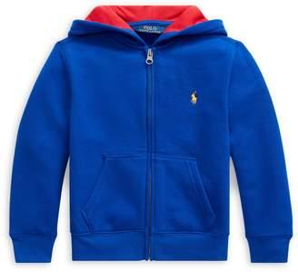 Ralph Lauren Childrenswear Little Boy's Full-Zip Cotton-Blend Fleece Hoodie