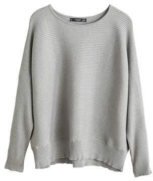 MANGO Ribbed fine-knit sweater