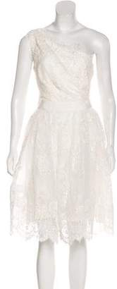 Marchesa Tulle Embroidered Dress