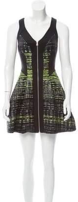 Robert Rodriguez Jacquard Sleeveless Dress