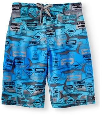 7283046edcef3 Trunks Laguna Shark Traffic Signs Swim Trunk (Big Boys)