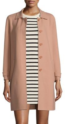 Theory Dafina Virgin Wool Blend Coat $695 thestylecure.com