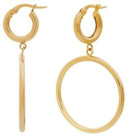 Lord & Taylor 14K Yellow Gold Hinged Drop Earrings