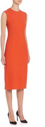 Narciso Rodriguez Slit Silk-Trim Midi Dress