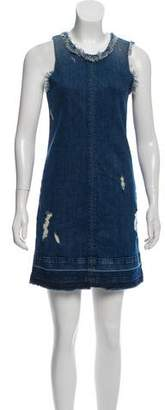 J Brand Distressed Denim Dress