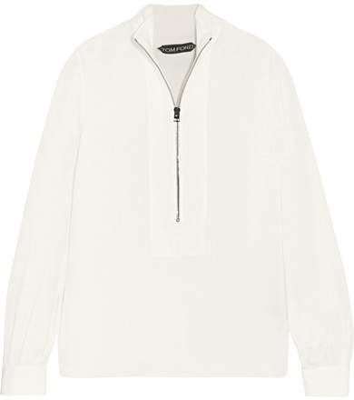 TOM FORD - Silk-georgette Blouse - Ivory