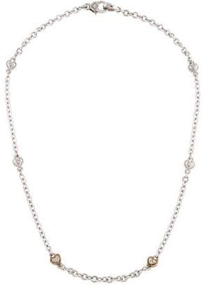 Judith Ripka Diamond Heart Station Necklace