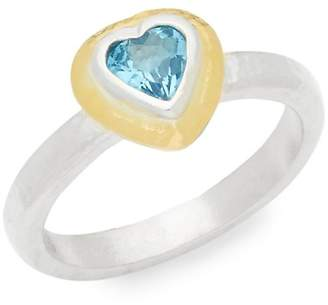 Gurhan Women's Romance Sterling Silver & Topaz Mini Heart Ring