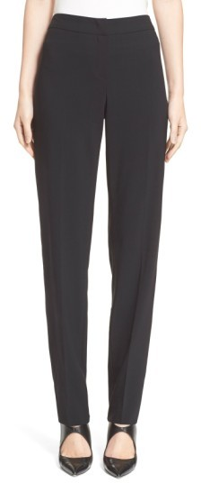 Women's Armani Collezioni Straight Leg Wool Pants