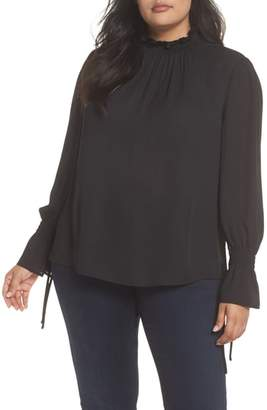 Vince Camuto Flare Tie Cuff Blouse