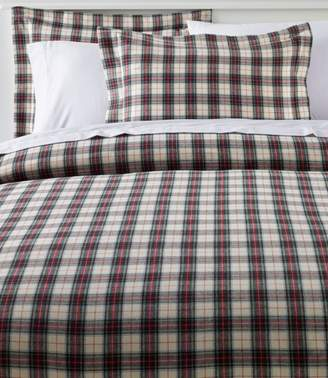 L.L. Bean L.L.Bean Heritage Chamois Flannel Comforter Cover Collection, Plaid