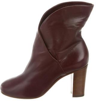 CelineCéline Leather Heratige Ankle Boots w/ Tags