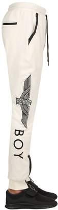Boy London Eagle Embroidered Cotton Sweatpants