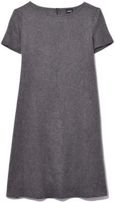 Aspesi Short Sleeve A-Line Dress in Grey