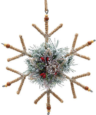 Three Posts Glitter Snowflake Wreath Ornament