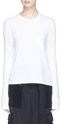 Alexander Wang Chest pocket long sleeve T-shirt