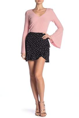 BB Dakota I'm A Rebel Dottie Ruffle Wrap Skirt