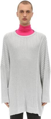Raf Simons Oversized Sweater W/ Lurex Details