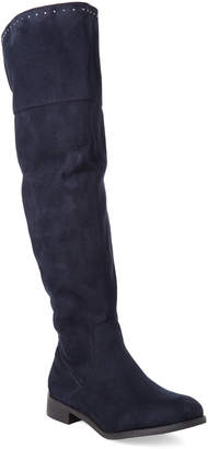 Gc Shoes Navy Audrey Studded Knee-High Boots