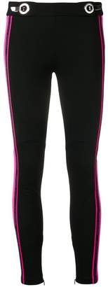 Versace side-stripe logo leggings