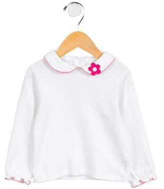 Florence Eiseman Girls' Embroidered Floral Top