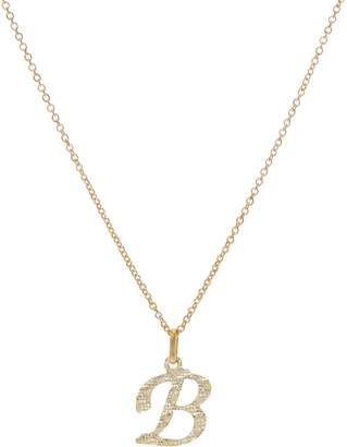 """Italian Gold Initial Pendant with 18"""" Chain, 14K Gold"""