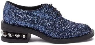 Nicholas Kirkwood 'Suzi' stud heel glitter Derbies