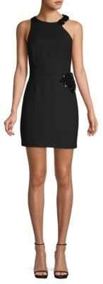 Halston Embellished Sleeveless Sheath Dress