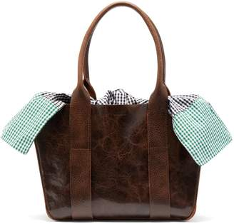 Muun Mini Gilbert Vichy gingham leather bag