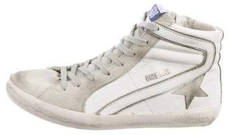 Golden Goose Leather High-Top Sneakers