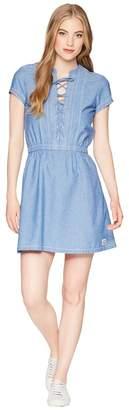 U.S. Polo Assn. Cross and Pleat Chambray Dress Women's Dress