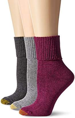 Gold Toe Women's Combed Cotton Bermuda Sock (Pack of 3)