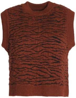 Ganni Richmont Brushed Jacquard-Knit Sweater