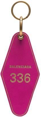 Balenciaga hot pink diamond shaped keyring